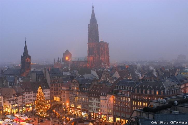 La marché de Noël de Strasbourg, place Kléber
