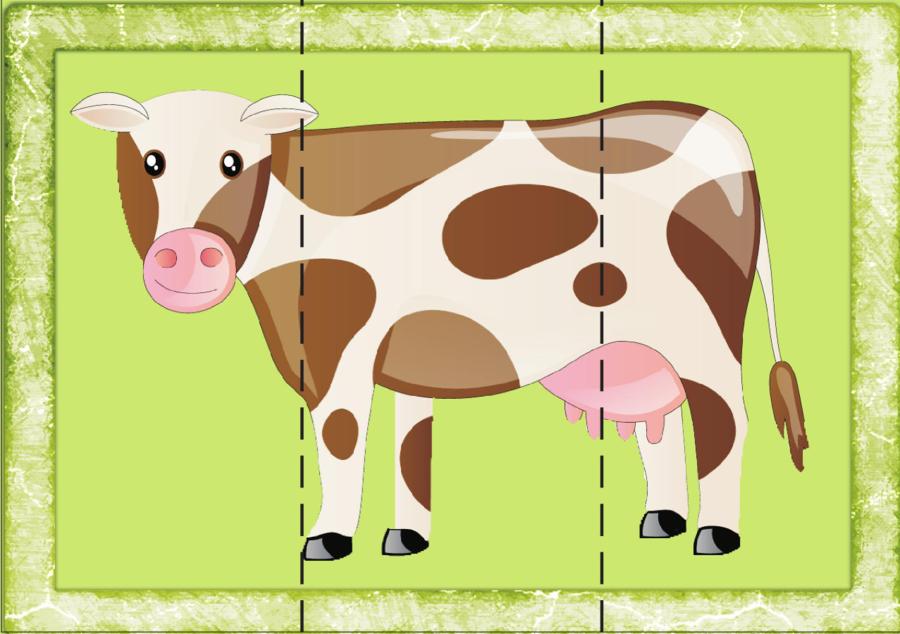 Fabuleux puzzles animaux très simples et zolis - La petite et moyenne  FJ61
