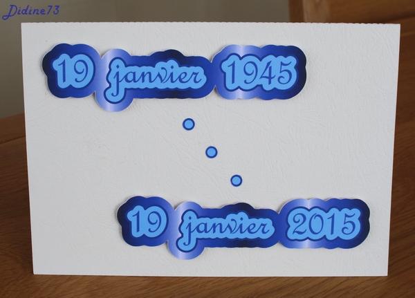 Banderole et carte d'anniversaire - carte -1