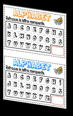 L'alphabet : comptine (2)