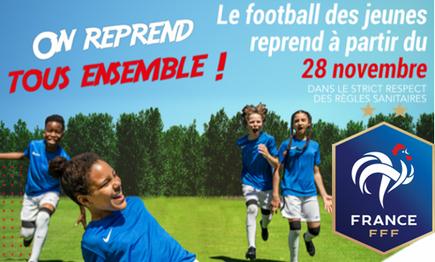 11 exercices école de foot par FFF reprise activité