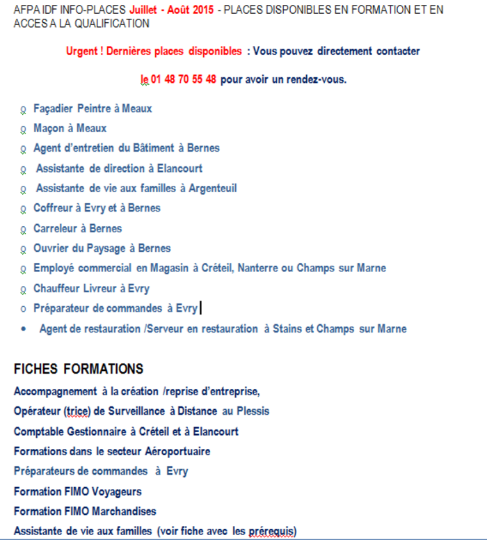 Formation - Orientation - (page 4) - Mission locale sud Essonne