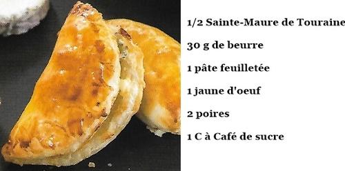 Feuilletés au Sainte-Maure de Touraine