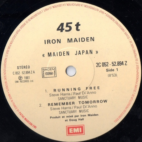 Ajout maxi 45 tours: Maiden Japan