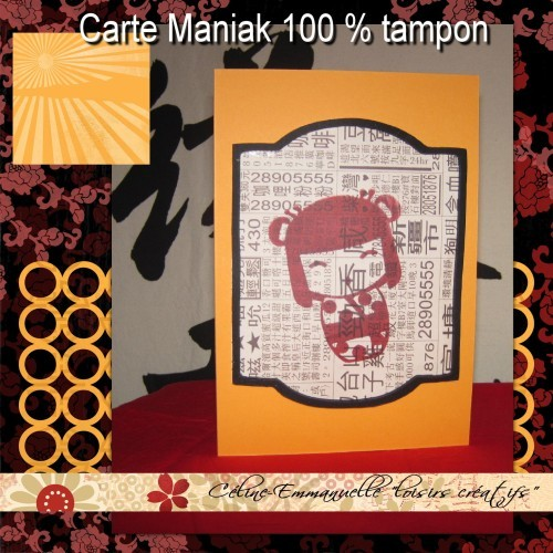 Carte Maniak 100%tampon