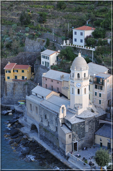 Italie, les 5 Terres : Vernazza, église sainte Marguerite d'Antioche