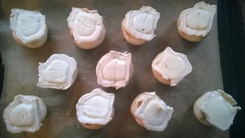 Recette champignon farcie chévre saumon