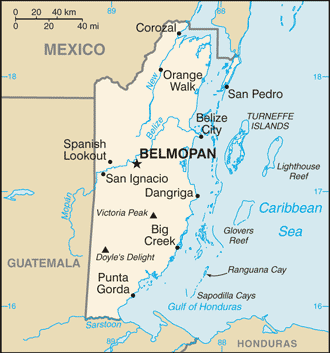 Belize-CIA WFB Map