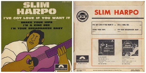 SLIM HARPO - FRENCH EP POLYDOR - 1967