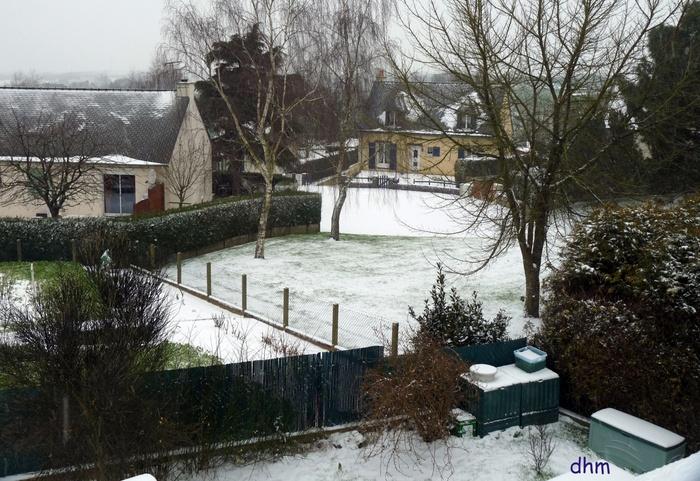Première neige en Bretagne .