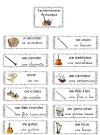 Lexique - instruments de musique