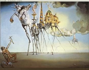 Salvador Dali, La tentation de St Antoine