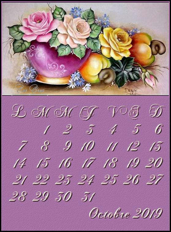 calendriers octobre