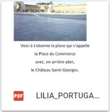 Les villes de Lisbonne et Porto au Portugal (par Lilia)