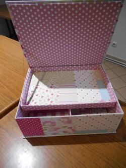 Carton Tissu et colle ......une boite à ouvrage
