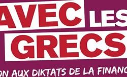 Avec les Grecs : Rassemblement de soutien