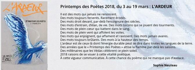 20 ème Printemps des Poètes du 3 mars au 19 mars