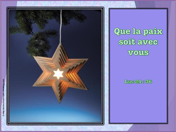 Meilleurs Voeux - Luc 24 : 36
