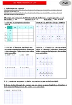 Séquences mathématiques CM1 : CALCUL