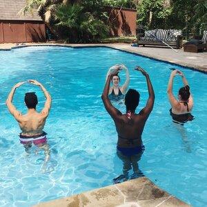 dance ballet class pool water training