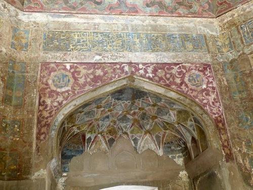 Chini Ka Rauza à Agra; l'intérieur;