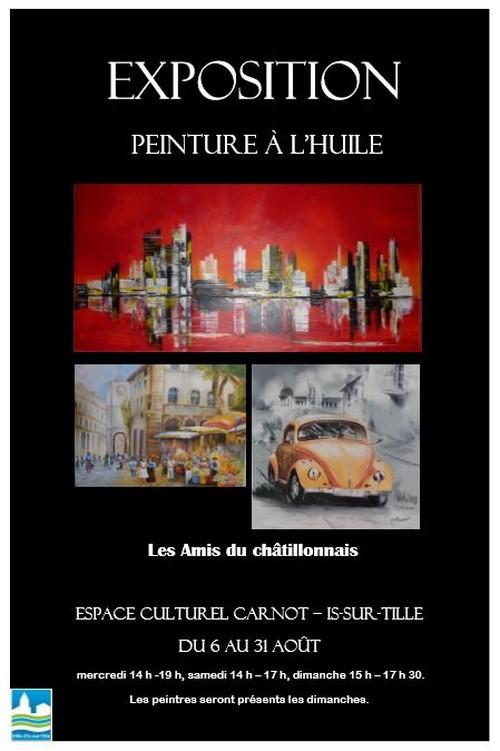 Les peintres à l'huile des Amis du Châtillonnais exposent à Is sur Tille....