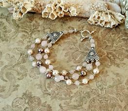 Bracelets pierres - Lapis-Lazuli, Onyx, Hématite, Grenat, Quartz rose, Amazonite