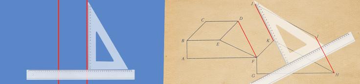 Repérer des droites ou des segments parallèles avec ta règle et ton équerre!
