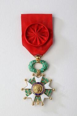 * Marcel Barbary - Ancien de la 1ère DFL -  nommé  Officier de la Légion d'honneur
