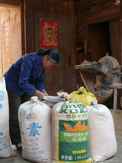 marché de rue dans les environs de Kunming