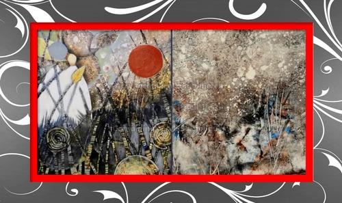 Dessin et peinture - vidéo 2489 : Création et travail sur un fond texturé (partie 1) - peinture abstraite.