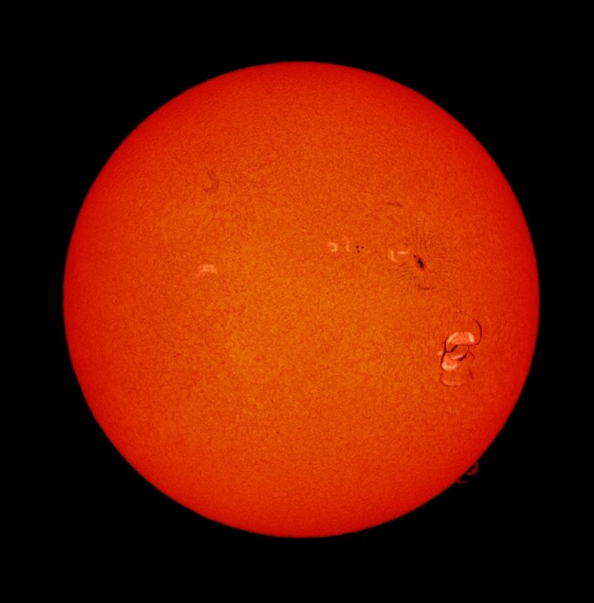 Soleil H alpha 07-09-2017