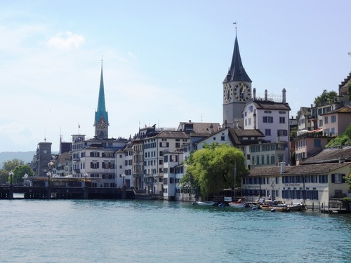 Zürich, le long de la Limmat (photos)