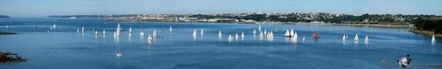 Voiliers en rade de Brest