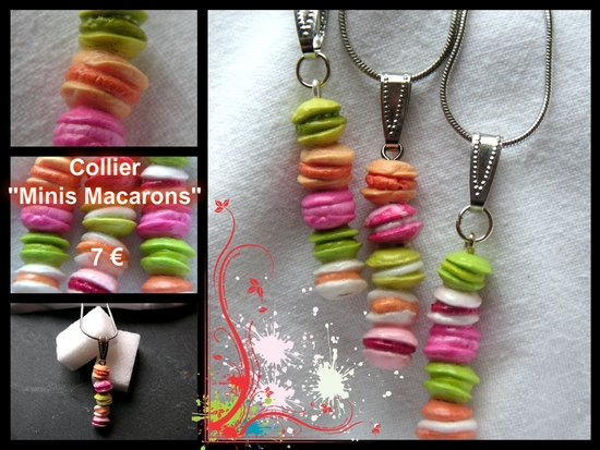 collier minis macarons