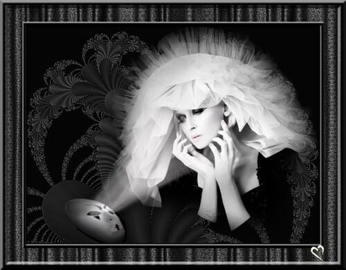 En noir et blanc ... mon double