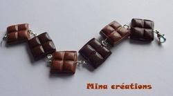 bracelet double chocolat