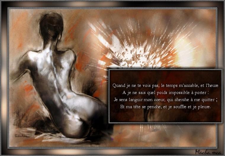 Sur Poéme de Marceline DESBORDES-VALMORE