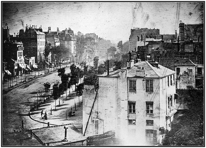 La plus ancienne photo de Paris montrant un être humain.