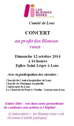 """Bientôt le concert des """"BLOUSES ROSES"""" à Lens"""
