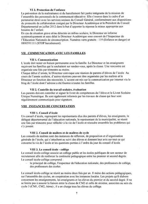 Règlement intérieur de l'école p7