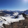 Panorama depuis Espelunciecha (2397 m), du Lurien à la Pala de Ip