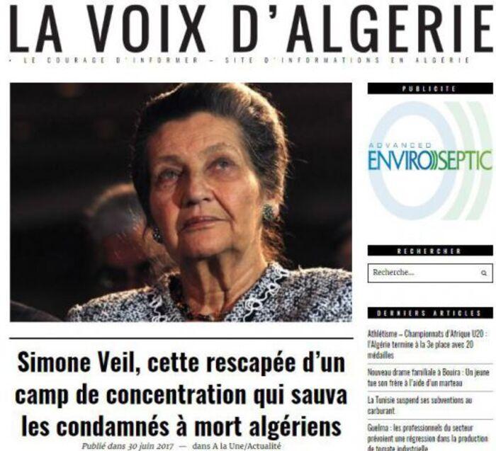 Pourquoi l'Algérie rend, elle aussi, hommage à Simone Veil