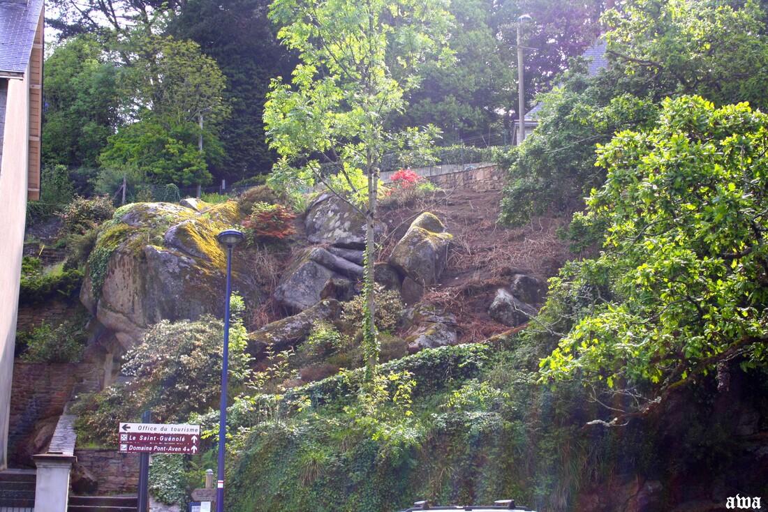 """Bretagne  mai 2014 : Pont Avan : """"  Carte de France de Canelle """""""
