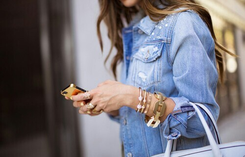 accesories, fashion, girly, iphone, long hair, pretty, vogue