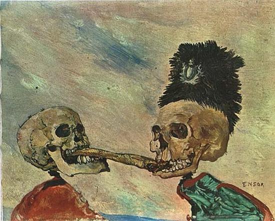 James Ensor, Squelettes se disputant un hareng-saur