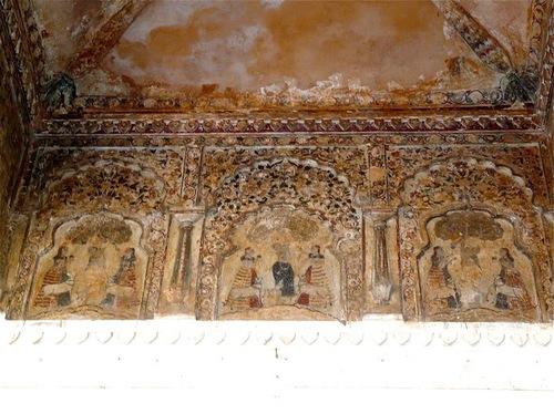 palais Rajah Mahal; les décorations intérieures;
