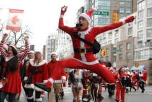 dance ballet class santa claus dancing parade pompom girls