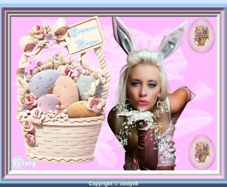 Joyeuses fêtes de Pâques chez cindy +Pause