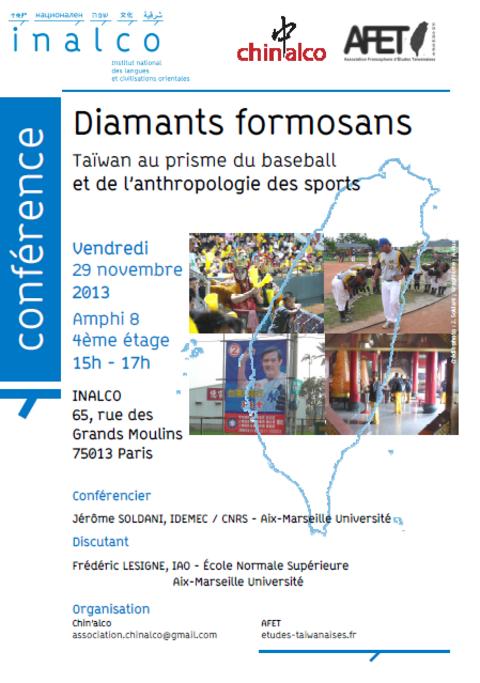 Diamants formosans - Vendredi 29 novembre 2013